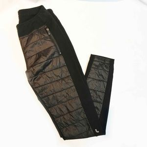 Lole Legging Sport Pant With Nylon quilted Front